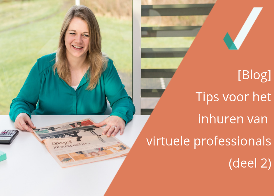 Tips voor het inhuren van virtuele professionals